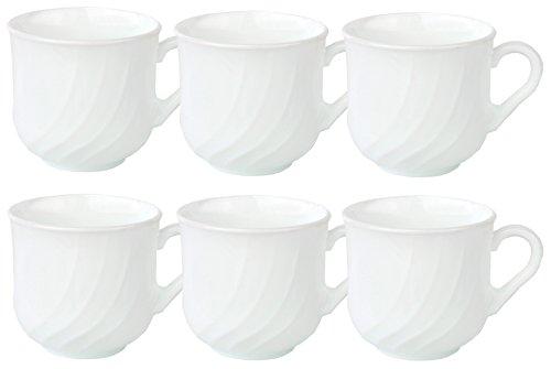 Bormioli 6er Set Rocco EBRO Kaffeetasse 220 ml, Opal-Hartglas