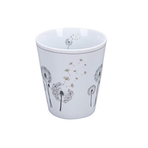 Krasilnikoff - Happy Mug - Becher, Tasse - Pusteblume - Porzellan - H10 x Ø8,7 cm - Volumen: 330 ml