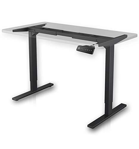 MAIDeSITe Höhenverstellbarer Schreibtisch mit 2 Motoren Elektrisch Höhenverstellbares Tischgestell, 2-Bühne Hebe Passt für alle gängigen Tischplatten Beine|Kollisionsschutz|MemoryFunktion(Schwarz)