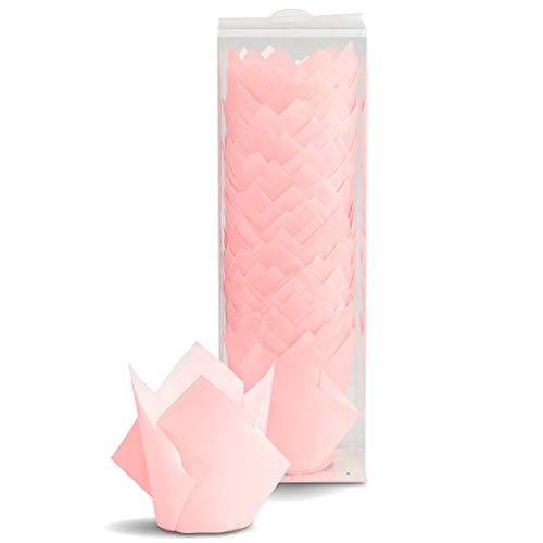 Tulip Cupcake Liners Paper Baking Cup Wrappers (100, Pink)