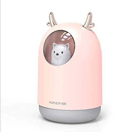 ETDWA Umidificatore per Macchina per aromaterapia Mute Cat Mini Cartoon Cubs USB Deumidificatore d'Aria Purificatore per Coniglio Adatto per Ufficio a casa (Colore: Rosa)