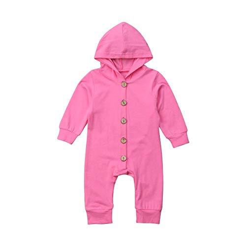 Wide.ling Baby Kid Hooded Jumpsuits Baby Meisje Jongen Kleding Pasgeboren Lange Mouw Single Breasted Rompers Casual Katoen Romper Outfits