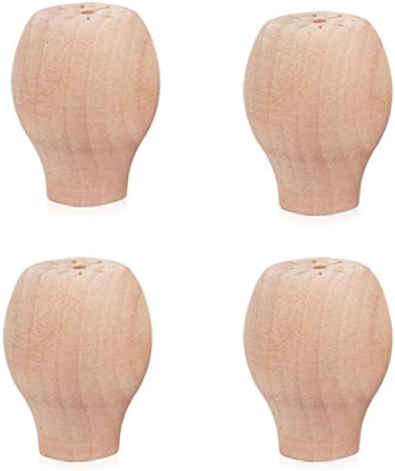 Solid Wood Sofa Legs Finished Furniture Feet Replacement Legs for Coffee Table Buffet Bedside Cabinet Cupboard Dressing Table(4pcs)