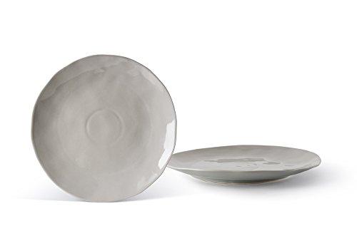 Fill Salbei Set 4Stück Teller aus Steinzeug, Keramik, Quarz, 25x 25x 2.5cm