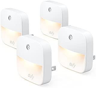 eufy Lumi Plug-In Night Light, Warm White LED Nightlight,...