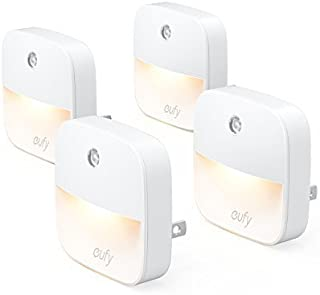eufy Lumi Plug-In Night Light, Warm White LED Nightlight, Dusk-To-Dawn Sensor, Bedroom,..
