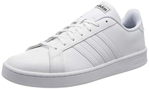 adidas Mens Grand Court Sneaker, Footwear White/Footwear White/Core Black, 44 EU