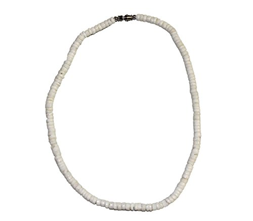 Acan Collar de Piedras Blancas con Enganche de Rosca Plateado