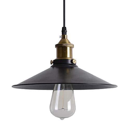 Lamp XL industriële hanglamp retro hangmat zwarte schaduw Linghting, voor eetkamer, stangen, magazijn, basis E27