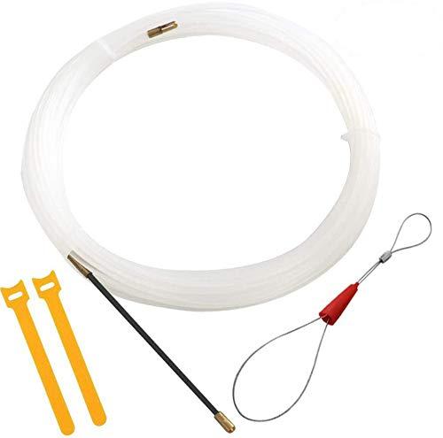 RUNCCI-YUN 10M Kabel-einziehband|Elektrische Draht Einfaedler Kabellauf Stangen Einziehbands Ziehen|Ø3 mm Einziehdraht Kabel|kabeleinziehhilfe