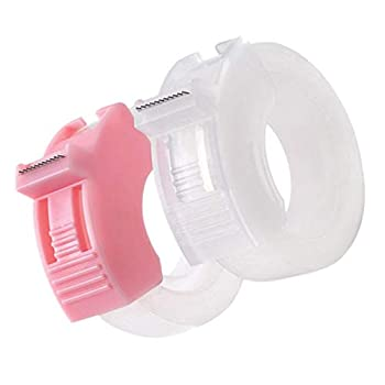 ARTIBETTER 2pcs Tape Dispenser Mini Washi Tape Dispenser Plastic Handheld Tape Cutting Machine with 2 Roll Tape for Home Office