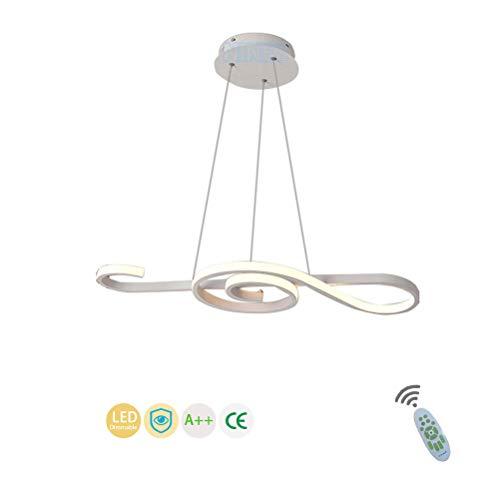 Moderno LED Iluminación Colgante Acrílico Nota Musical Lámparas de Araña Lámpara de Salón Clásica Decorativo Lámpara Colgante Redondo Diseño Candelabro Iluminación luz alta-cálida,6500K/70CM