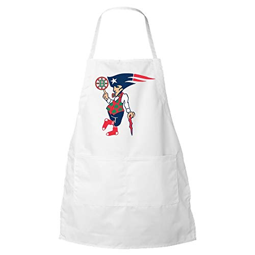 Awesome Boston Sports Teams Apron - Cool Novelty BBQ Kitchen Apron for Patriots Redsox Celtics and Bruins Fans