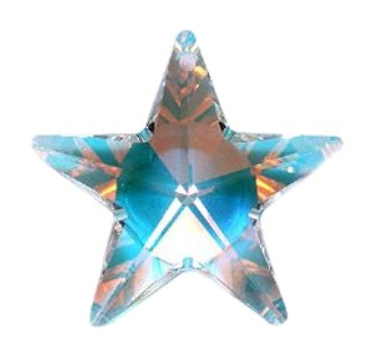 Swarovski 6714 Star Pendants, Aurora Borealis, Crystal, 28mm