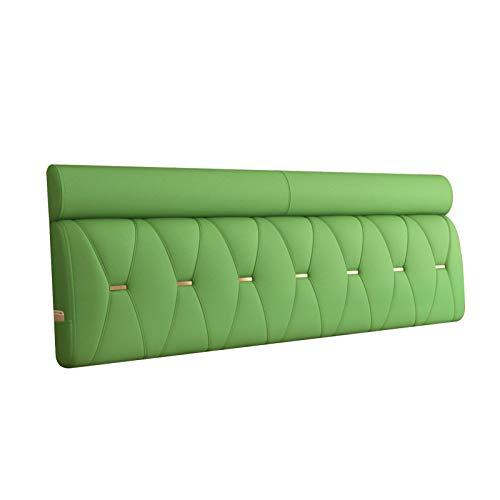 Cama Cojín Lectura Almohada Respaldo, Almohadillas Lumbares Tapizadas, Relleno Esponja Densidad Suave Al Tacto, Cómodo Anticolisión, 6 Colores PENGFEI (Color : Green, Size : 150cm)