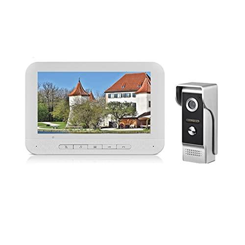 SMLJLQ Home Intercom Video Door Phone 7 inch Intercoms Monitor 1000TVL Night Vision Waterproof Doorbell Camera Access Control Unlock