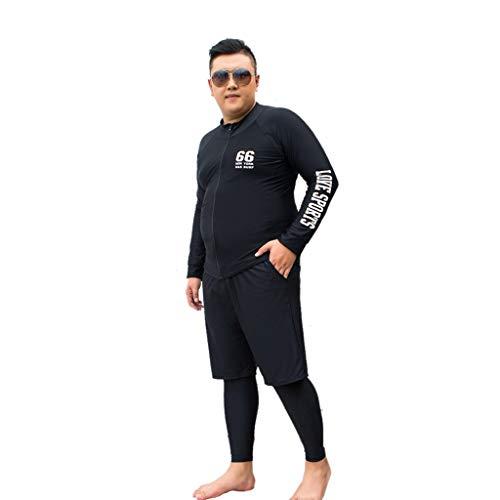 Wetsuits Herren Neoprenanzug Tauchanzug Dünger hinzufügen 3-teiliges Set aus elastischen Langarm-Sonnencreme Schwimmen Segelboot Badeanzug Kanu MUMUJIN (Size : 5XL)