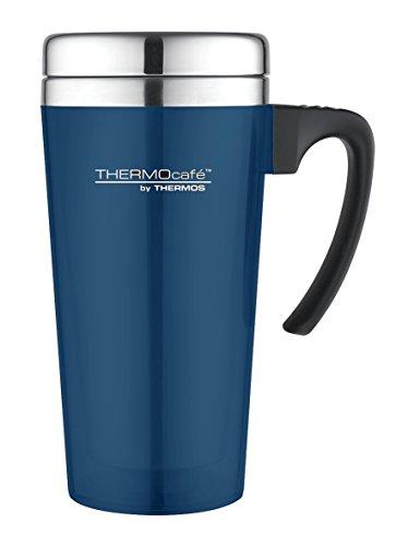 ThermoCafé Thermobecher Color, Kaffeebecher to go Kunststoff blau 400ml, Isolierbecher mit Schiebeverschluss, Becher für Kaffee oder Tee 4061.256.040, Coffee to Go 2 Stunden heiß, BPA-Free
