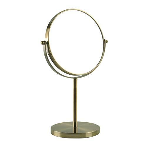 WLL Rasierspiegel, Kosmetiktisch Make-up-Spiegel Mit 1x / 3X, 360 ° Drehbar Vergrößerungsspiegel, Badezimmerspiegel Mit Kristall-Stil (blau Bronze) Kosmetikspiegel (Size : 7in)
