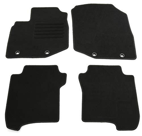 AD Tuning HG14065 Velours Fußmatten Set (4-teilig) Schwarz Passform Autoteppiche