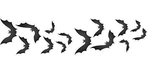Fledermaus-Schablone – Wiederverwendbare Halloween-Schablone mit fliegenden Mäusen Größe S