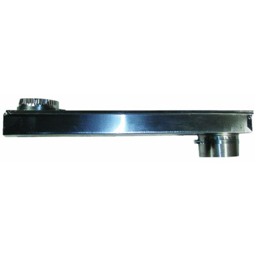 Builder's Best 0-18&Quot Skinny Vent Duct 10128 Adjustable Periscope 0'' to 18'', Silver
