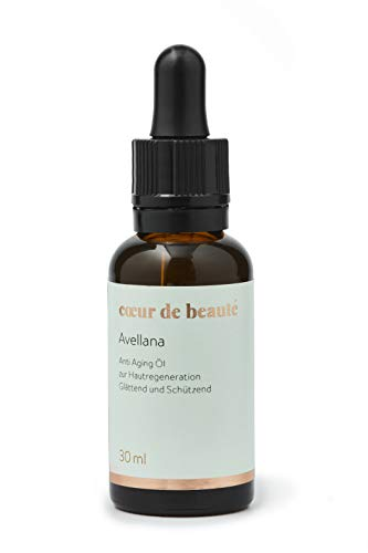 coeur de beauté - Natürliches Avellana Öl - Anti-Aging Pflege durch hohen Anteil an Palmitoleinsäure für sensible und reife Haut mit einem natürlichen Sonnenschutz