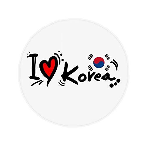 DIYthinker Ich Liebe Korea Wort Flagge Liebes-Herz-Illustration Anti-Rutsch-Boden Haustier-Matten R&e Badezimmer Wohnzimmer Küche Tür 80 cm Geschenk 80 X 80Cm Mehrfarbig
