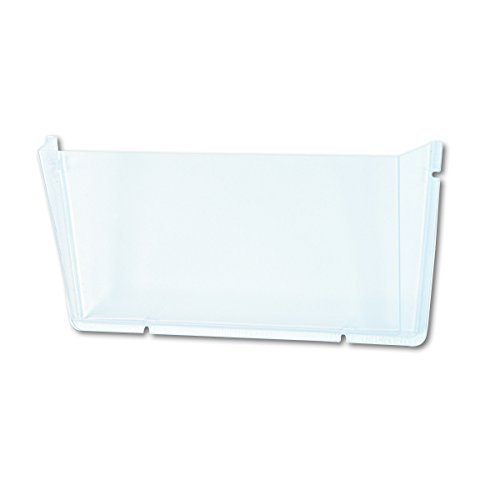Deflecto Wandprospekthalter (Querformat, unzerbrechlich, für DIN A4), transparent