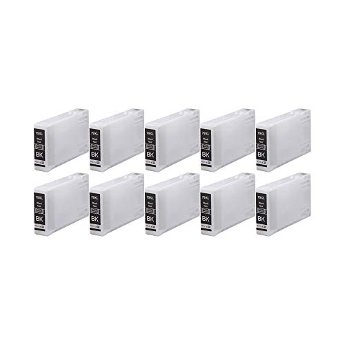 RudyTwos 10x Ersatz für Epson 79XL (TowerofPisa) Tinteneinheit Schwarz kompatibel zu WorkForce Pro WF-4630DWF, WF-4640DTWF, WF-5110DW, WF-5190DW, WF-5620DWF, WF-5690DWF
