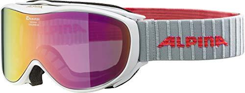 ALPINA CHALLENGE 2.0 Skibrille, Unisex– Erwachsene, white-flamingo, one size