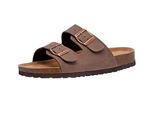 CUSHIONAIRE Women's, Lane Slide Sandals Brown 8.5 M