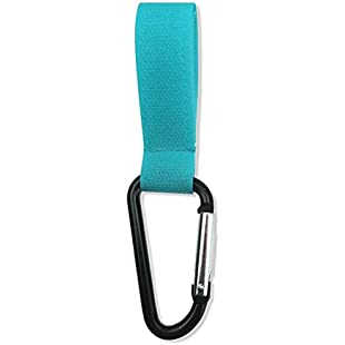 Baby Stroller HooksButton Carabiner Bags Hook Clip Lake green