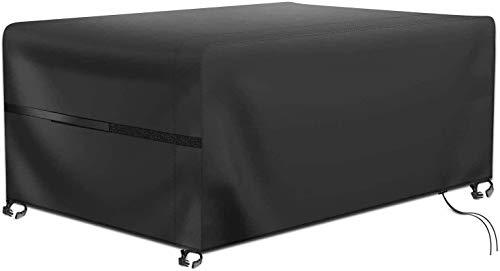 RATEL Abdeckhaube für Tisch und Stühle, Atmungsaktiv für Gartenmöbel Wasserdicht Winddicht Schutzhülle Gartentisch Abdeckung 420D Oxford Schutzhülle Gartentischabdeckung(242x162x100cm)