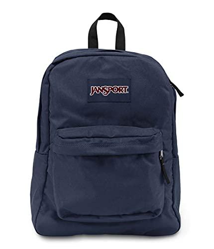JanSport Superbreak Plus Backpack - School, Work, Travel, or Laptop Bookbag with Water Bottle Pocket, Navy