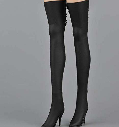 Kleding Model 1/6 Schaal Meisje Hoge Hak Lange Laarzen Model Accessoires Dames Zwart Hoge Laarzen Van toepassing op voor 12 Inch Action Figure