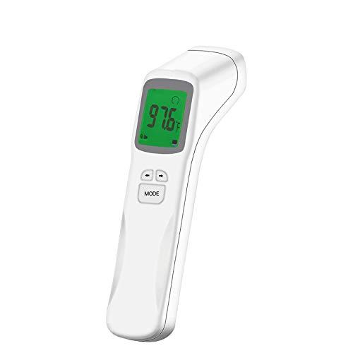 Sansee Berührungsloses Termómetro für Erwachsene und Kinder, Genaues Hintergrundbeleuchteter HD-LCD Bildschirm,Messwerte in Einer Sekunde (A)