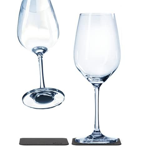 silwy magnetic drinkware, bicchieri di cristallo di alta qualità con materiale integrato e sottobicchieri metallici, bicchieri da campeggio antiscivolo, accessori per barca e yacht (vino)