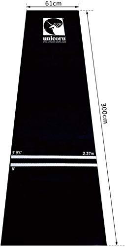 Unicorn Professional Dart Mat, Heavy Duty Gummi Dartmatte, schwarz