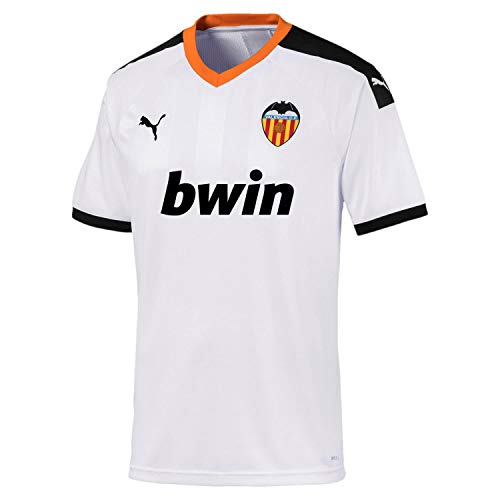 PUMA VCF Home Shirt Replica Maillot, Hombre, White Black-Vibrant Orange, L
