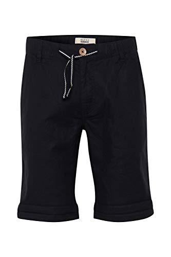 Blend Lenno Herren Leinenshorts Kurze Leinenhose Bermuda, Größe:XL, Farbe:Black (70155)