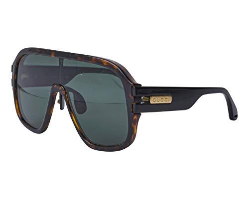 Gucci zonnebril (GG-0663-S 003) havana donker - zwart glanzend - bruin-groen