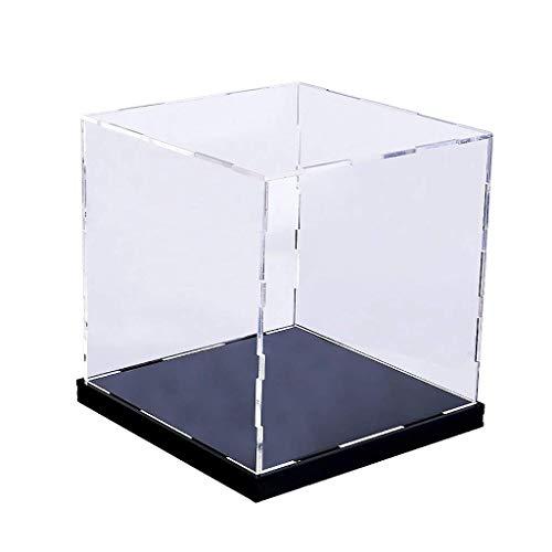 Tubayia Acryl Staubdichte Vitrine Display Case Schaukasten Show Box für Automodell/Action Figuren/Puppen (20x20x25cm)