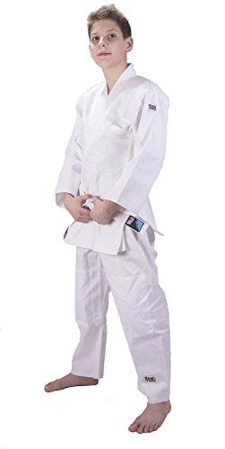 Ippon Gear–Traje de Judo Infantil Future, Blauer Streifen Am Revers