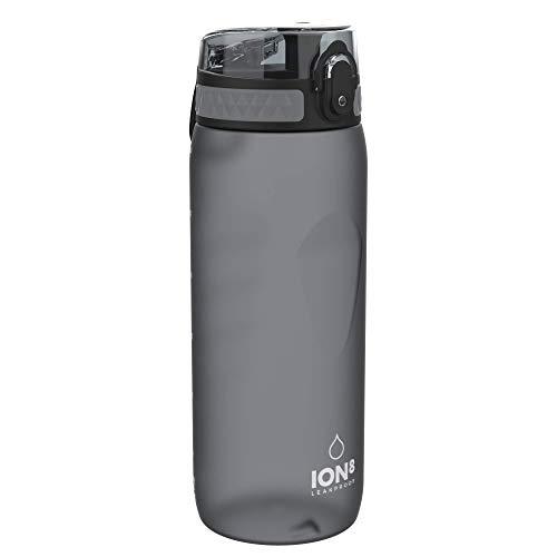 Ion8 Borraccia Bici Senza Perdite, Senza BPA, 750ml, Grigio