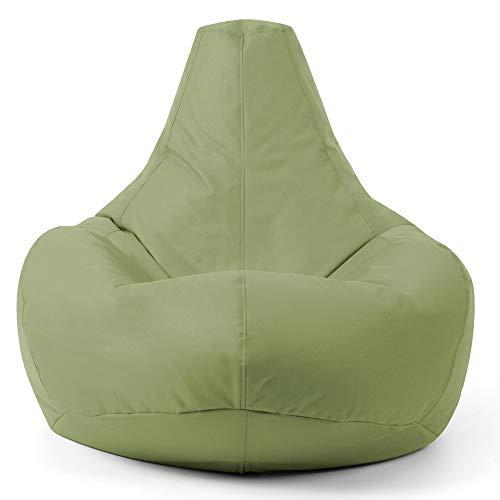 Bean Bag Bazaar Siège Inclinable de Designer, Pouf Poire, Pouf Spécial Gamer, 90cm x 73cm, Résistant à l'Eau, Poufs d'intérieur et d'extérieur, Salon, Chambre (Vert Sauge)