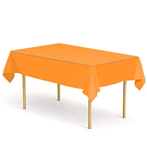 ETMURY Plastic Tablecloth 6 Pack Disposable Rectangle Table Covers 54 in. x 108 in. for 6 to 8 Foot Tables Indoor or Outdoor Parties Birthdays Weddings Christmas