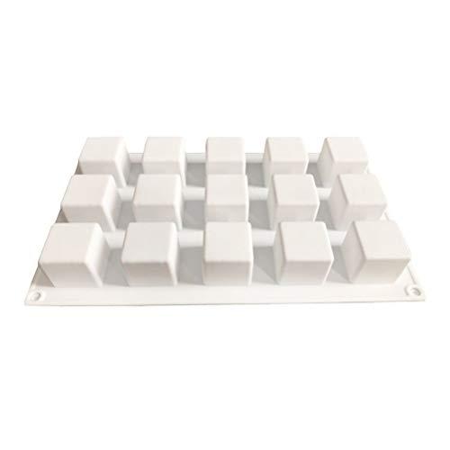Knowooh siliconen zeep vorm 15 holle ruimten rechthoek siliconen oven handgemaakte zeep vormen vormen vormen voor zeep wiebelpudding ijs cake chocolade wit