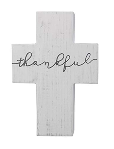 youngs Wood Thankful Cross with Wall Hook