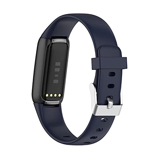 AISPORTS - Confezione da 5 braccialetti di ricambio per Fitbit Luxe in silicone, per donne e uomini, morbidi, comodi e traspiranti, in gomma siliconica, per Fitbit Luxe Activity Tracker